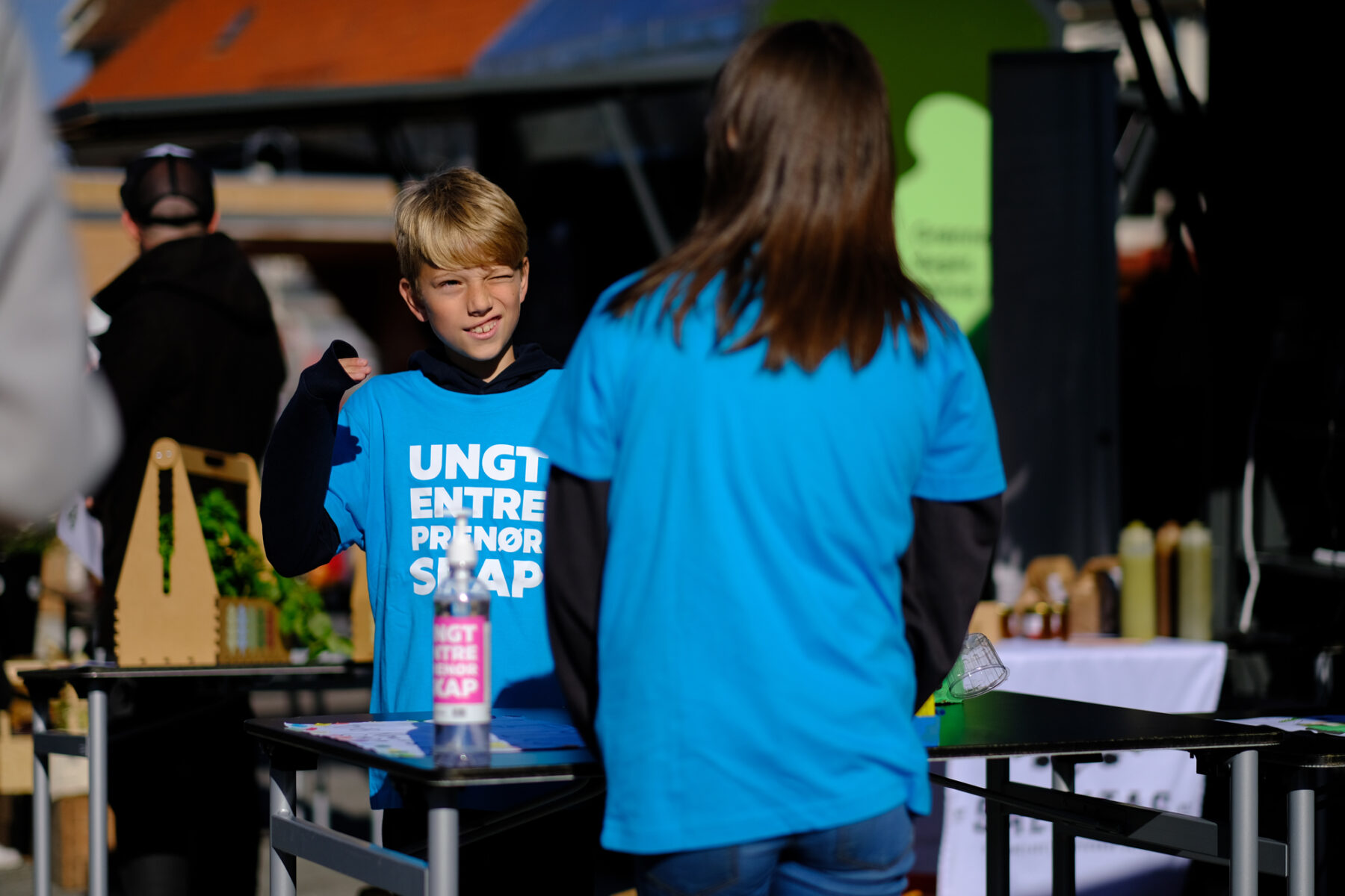 Young Entrepreneurs and the square